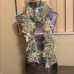 Accessories - Lacey, Sparkly Scarf in Shades of a Rainy Sky!